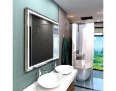 Koupelnové zrcadlo hranaté ATLANTA PREMIUM 130x80cm s LED osvětlením