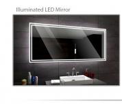 Koupelnové zrcadlo s LED podsvícením 120x80cm WIEDEN