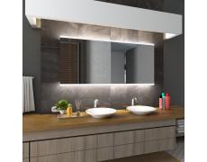 Koupelnové zrcadlo s LED podsvětlením 100x80 cm BRASIL