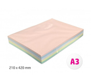 Barevné papíry A3 80g 500ls 5 barev