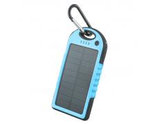 Power banka 5.000 mAh solární modrá ,PB-016, externí baterie