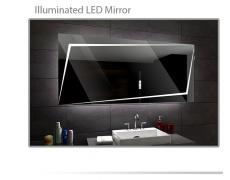 Koupelnové zrcadlo s LED podsvětlením 120x80 cm BERLIN