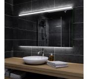 Koupelnové zrcadlo s LED podsvícením 110x80cm GIZP podsvětlene spodní část
