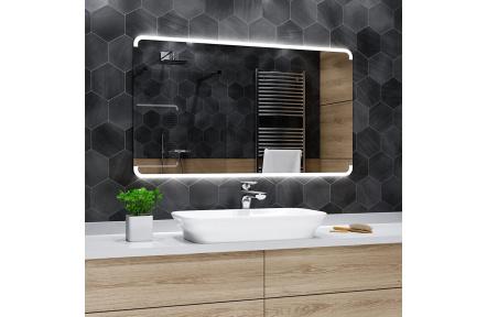 Koupelnové zrcadlo s LED osvětlením 60x50 cm ASSEN