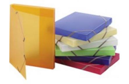 Krabice tříklopá s gumou OPALINE transparentní, box na spisy s gumou