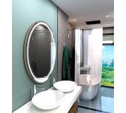 Koupelnové zrcadlo kulaté LONDON PREMIUM s LED osvětlením Ø 70 cm