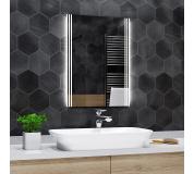 Koupelnové zrcadlo s LED podsvětlením 80x110 cm ARICA