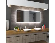 Koupelnové zrcadlo s LED podsvícením 75x65 cm OSAKA