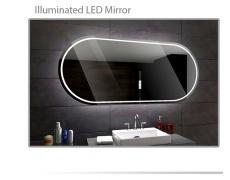 Koupelnové zrcadlo s LED podsvětlením 120x70 cm PALERMO
