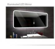 Koupelnové zrcadlo s LED podsvícením 80x60 cm OSAKA