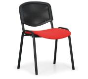 Konfereční židle čalouněná Viva Mesh červená, černý kov, židle konferenční
