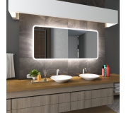 Koupelnové zrcadlo s LED podsvícením 100x60 cm OSAKA