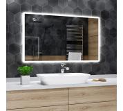 Koupelnové zrcadlo s LED podsvícením 90x90 cm BOSTON, hranaté