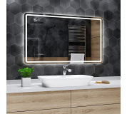Koupelnové zrcadlo s LED podsvětlením 140x95 cm MADRID