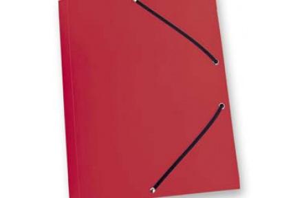 Mapa tříklopá PVC s gumou neprůhledná červená, desky na spisy s gumou