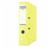 Pořadač pákový A4 DONAU 5cm polypropylen žlutý