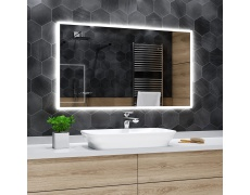 Koupelnové zrcadlo s LED osvětlením 45x100cm BOSTON