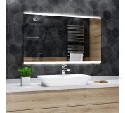 Koupelnové zrcadlo s LED podsvětlením 100x90 cm BRASIL