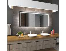 Koupelnové zrcadlo s LED podsvětlením 100x80 cm HOUSTON