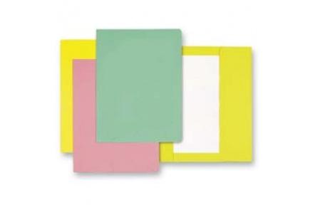 Mapa odkládací 1klopa žlutá, papírové desky 1ks