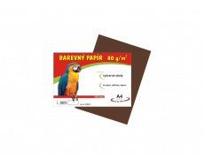 Barevné papíry A4 80g 100ls hnědé