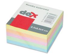 Kostka papírová volné listy 8,5x8,4cm ,náhradní listy 8,5 x 8,5 x 4 cm barevné