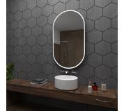 Koupelnové zrcadlo s LED podsvětlením 60x100 cm HAMBURG