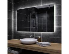 Koupelnové zrcadlo s LED podsvětlením 130x90 cm DUBAI