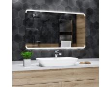 Koupelnové zrcadlo s LED osvětlením 80x70 cm ASSEN zaoblené