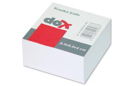 Kostka papírová volné listy 8,5x8,4cm ,náhradní listy 8,5 x 8,5 x 4 cm bílé