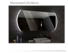Koupelnové zrcadlo s LED podsvětlením 100x60 cm BALTIMORE