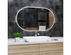 Koupelnové zrcadlo s LED podsvětlením 110x70 cm HAMBURG