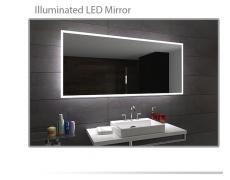 Koupelnové zrcadlo s LED podsvětlením 92x75 cm BOSTON