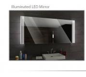 Koupelnové zrcadlo s LED podsvětlením 140x80 cm ARICA