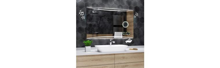 Koupelnové zrcadlo s LED podsvětlením 120x60 cm WILNO