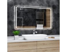 Koupelnové zrcadlo s LED podsvětlením 120x80 cm HOUSTON , hranaté