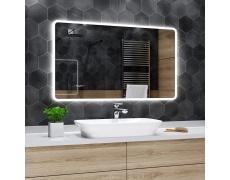 Koupelnové zrcadlo s LED podsvětlením 130x70 cm OSAKA