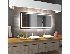 Koupelnové zrcadlo s LED podsvícením 105x75 cm ATLANTA