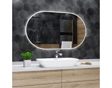 Koupelnové zrcadlo s LED podsvětlením 120x60 cm HAMBURG