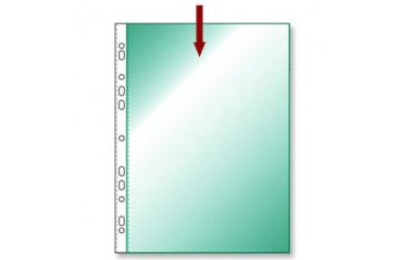 Obal na doklady s EURODĚROVÁNÍM A4 hladký zelený transparentní 100ks