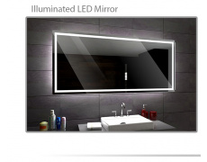 Koupelnové zrcadlo s LED podsvětlením 183x94 cm ATLANTA