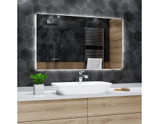 Koupelnové zrcadlo s LED podsvětlením 119x100 cm DUBAI
