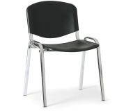 Konfereční židle plastová ISO černá, chromovaný kov židle konferenční