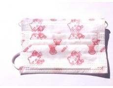 Rouška jednorázová třívrstvá dětská růžový potisk 10ks