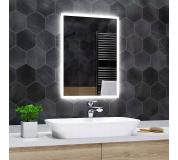 Koupelnové zrcadlo s LED podsvícením 60x140 cm BOSTON, hranaté