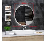 Koupelnové zrcadlo kulaté s LED podsvícením Ø 100 cm BALI podsvětlené, IP44, dotyk 3v1, ANTIPÁRA + dotyk,