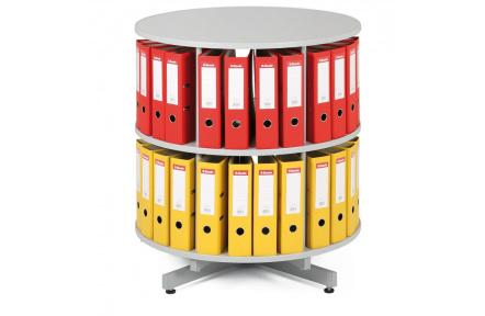 Archivační otočná skříň, přídavné patro šedá