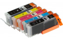 Sada Canon CLI571, PGI570, XL Black / Cyan / Magenta / Yellow + PGI570 XL Black MULTIPACK ,1x23ml+4x12ml