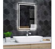 Koupelnové zrcadlo s LED podsvícením 50x90 cm ATLANTA, hranaté