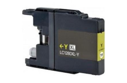 Brother LC1280 žlutá 19ml 100%NEW kompatibilní inkoustová kazeta LC 1280,LC-1280